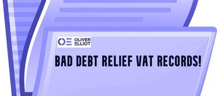 Bad Debt Relief VAT Records