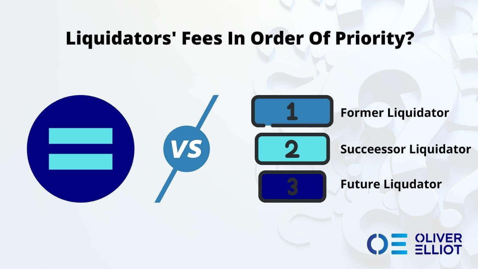 Liquidator Fee Order